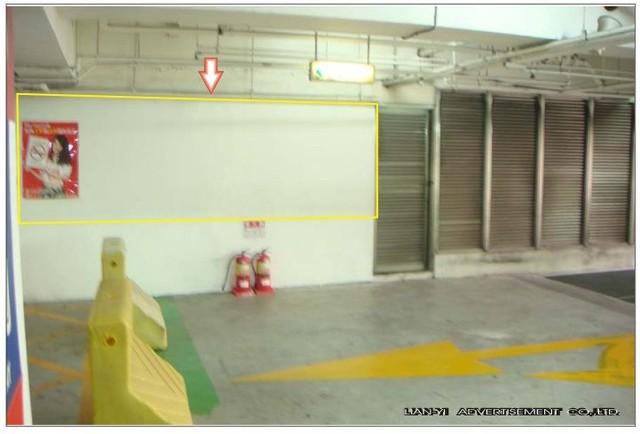 JT-B1-N010E家樂福仁德店B1停車場入口處之壁面