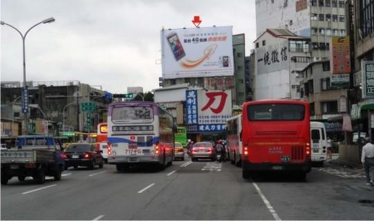 H-0221鐵架廣告塔-台中市建國路213號-往日曜天地、火車站、一中商圈廣告看板