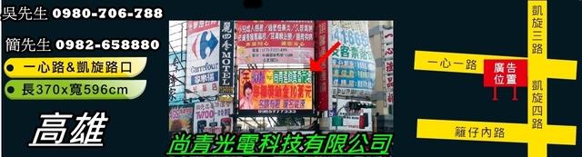 高雄、台南、屏東電視牆廣告託播