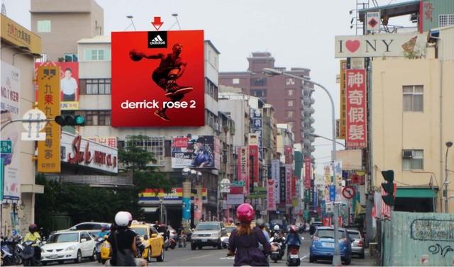 P-0212壁面廣告塔-高雄市新田路166號-新崛江商圈、大統百貨、城市光廊廣告看板