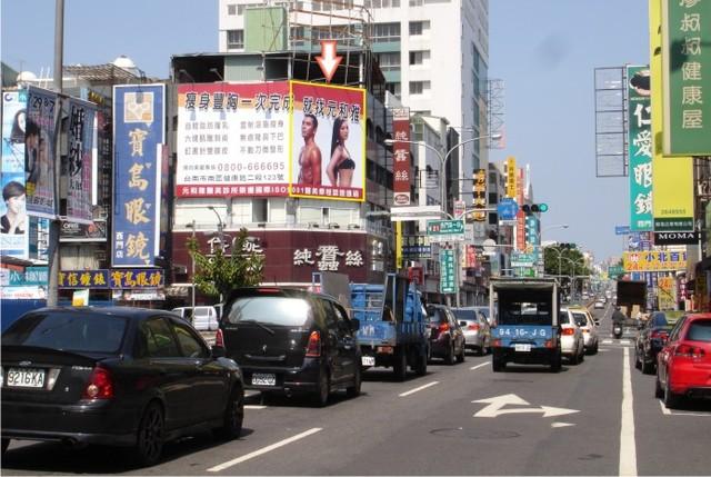 N-0369+N-04壁面廣告牆-台南市西門路一段 402 號-往新光三越新天地、市立棒球場廣告看板