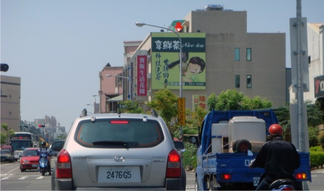 N-0616壁面廣告塔-台南市夏林路399號-往市區、安平廣告看板