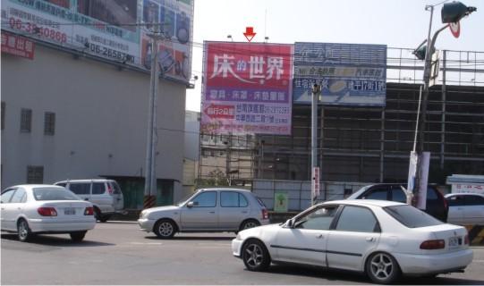 N-0031A鐵架廣告牆-台南市中華北路一段203巷16弄24號A面-大港觀海橋旁往市區方向廣告看板