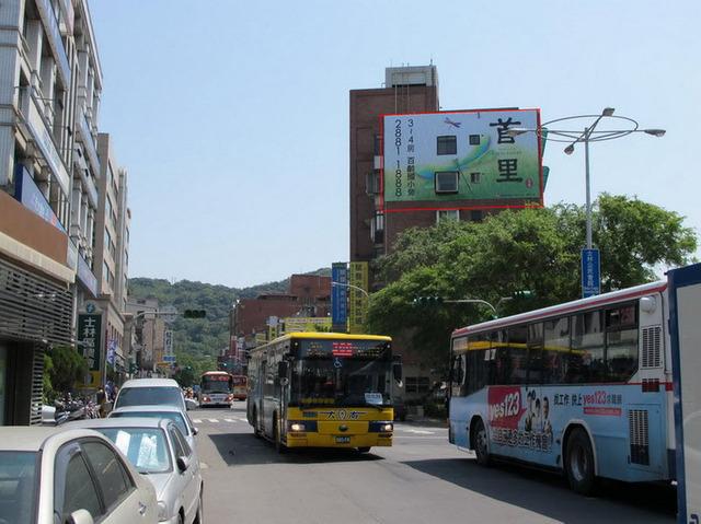 外牆出租-士林運站商圈【6-8F三交地外牆】面向大東路文林路