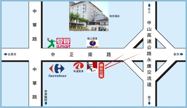 N-0634壁面廣告塔-台南市永康區中正北路158號-永康往市區方向廣告看板