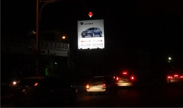 J-0040A鐵架廣告塔-彰化縣花壇鄉金墩街1巷6號-中彰往汽車街路衝廣告看板