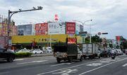 TN-S-90B鐵架廣告塔-台南市永華路二段81-101號-家樂福、燦坤3C、台南市政府廣告版面