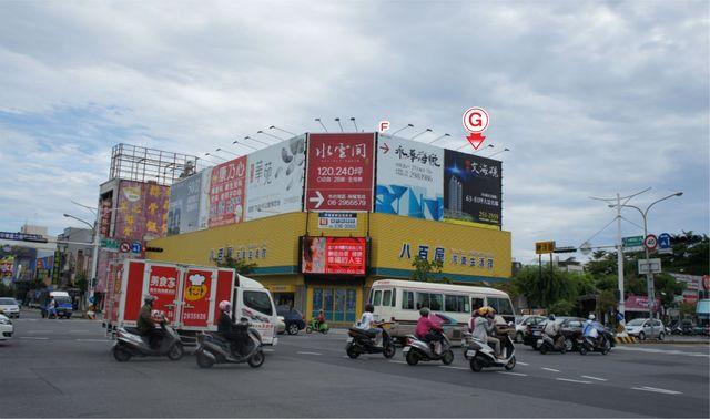 TN-S-90G鐵架廣告塔-台南市永華路二段81-101號-家樂福、燦坤3C、台南市政府廣告版面