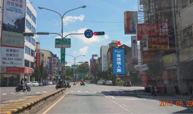 N-0663壁面廣告塔-台南市中山路與民權路口-新光三越、FOCUS百貨、大遠百、南方公園廣告版面