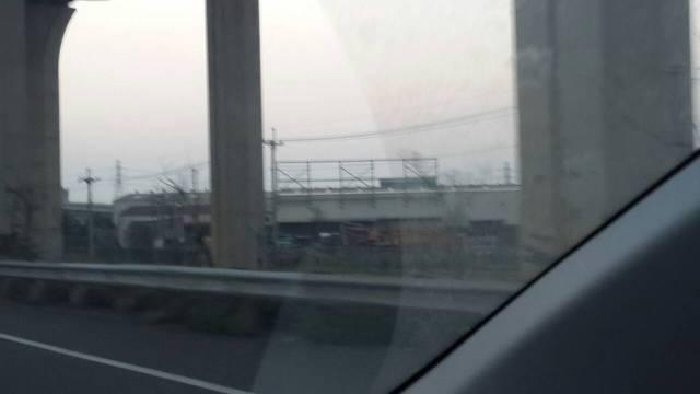 桃園中山高桃園段往機場方向