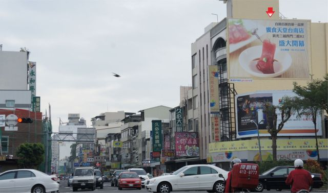 TN-W-31-壁面廣告塔-台南市府前路一段419號-西門路與府前路口、新光三越新天地廣告看板