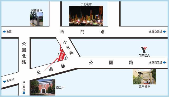 TN-S-39A-台南市公園路431之2號A面-往六甲頂方向廣告看板