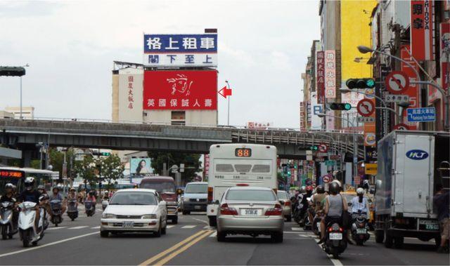 P-0231壁面廣告塔-高雄市建國二路268號-民族路方向廣告看板