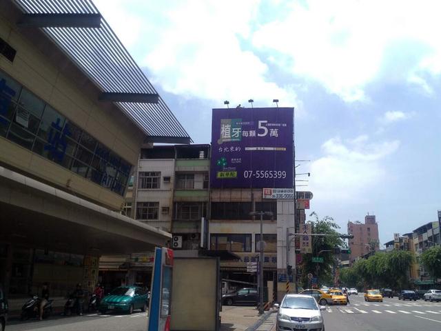 HW-P-0045A鐵架廣告塔-高雄市三民區九如二路385號-高雄火車站旁往中華路廣告看板