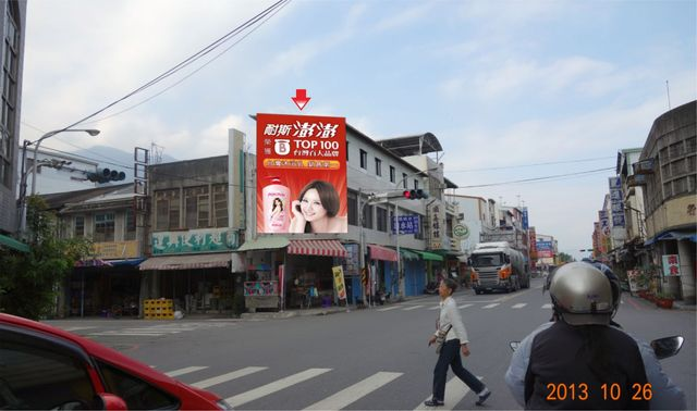 S-0002鐵架廣告塔-台東縣關山鎮中山路26號-花蓮東路往池上火車站廣告看板