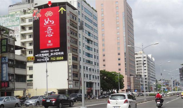 P-0245壁面廣告塔-高雄市苓雅區中正二路60號-大統百貨、捷運文化中心出口處廣告看板