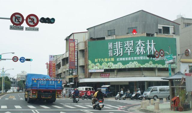 N-0207AB鐵架廣告塔-台南市中華西路一段122號-中華西路與新孝路口往市政府方向廣告看板