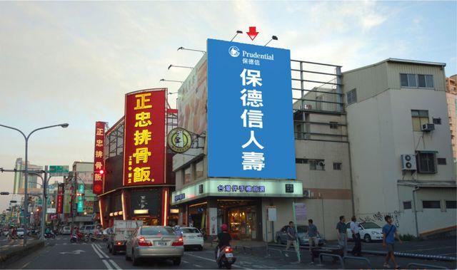 N-0683鐵架廣告塔-台南市成功路211號-成功路往台南火車站幾分甜外牆廣告看板