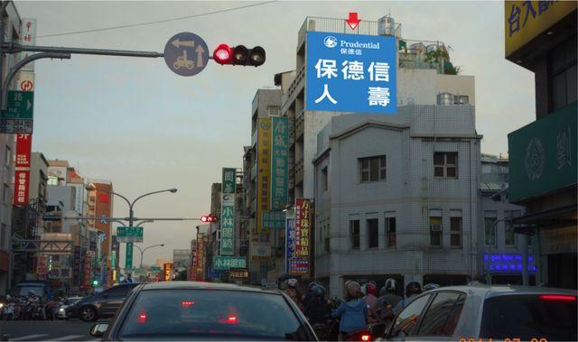 N-0684壁面廣告塔-台南市成功路293號-成功路往火車站方向廣告看板