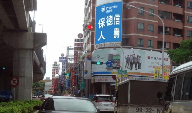 P-0258壁面廣告塔-高雄市左營區榮總路1號-榮總醫院旁廣告看板