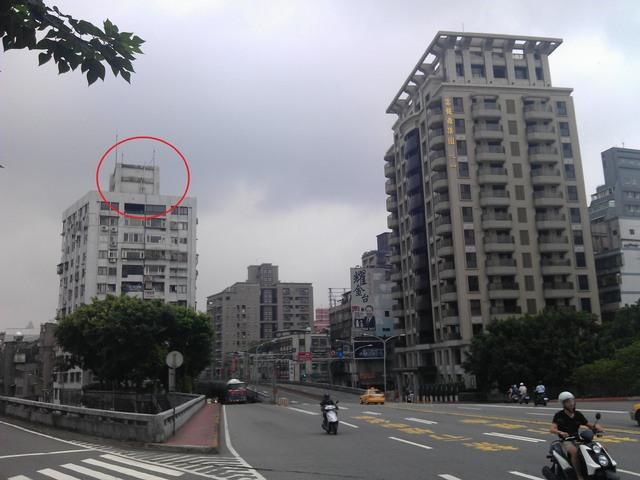 中正橋往台北市方向看去