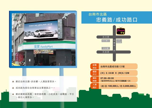 台南市北區忠義路/成功路(赤崁樓)
