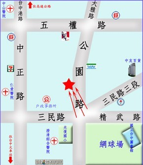 牆面廣告地圖位置