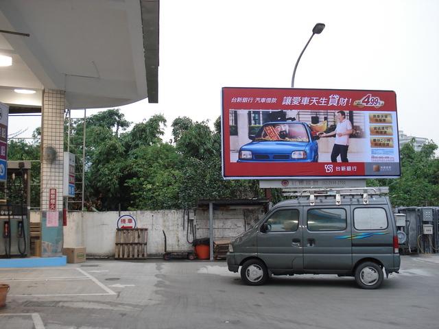 燈箱牆面廣告位置-日間