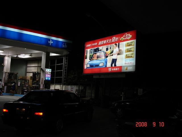 燈箱牆面廣告位置-夜間