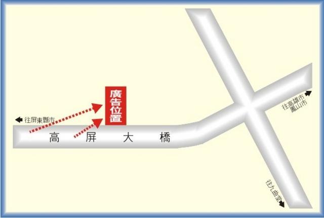 鐵架廣告塔-地圖
