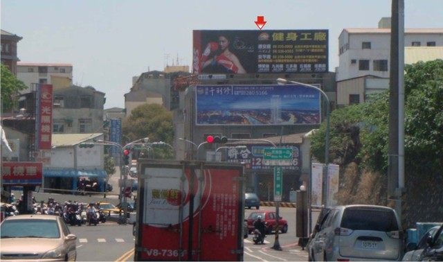 N-0143鐵架廣告塔-台南市前鋒路 135 號頂樓鐵架 - 往火車站、大遠百、新光三越百貨商圈廣告