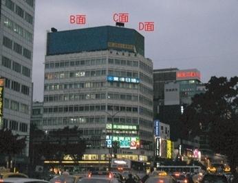 台北市的心脏地带-中山北路以及南京东西路交叉口上