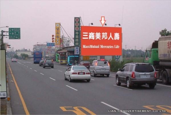 Q-0026廣告鐵架塔-屏東縣南州鄉壽元村勝利路2-9號-近南二高南州交流道廣告看板