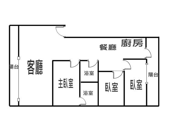 篤行路寬敞美三房 全新整理 直接入住