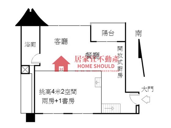 淡水宏普樂高「全新挑高4米2海景裝潢三房」