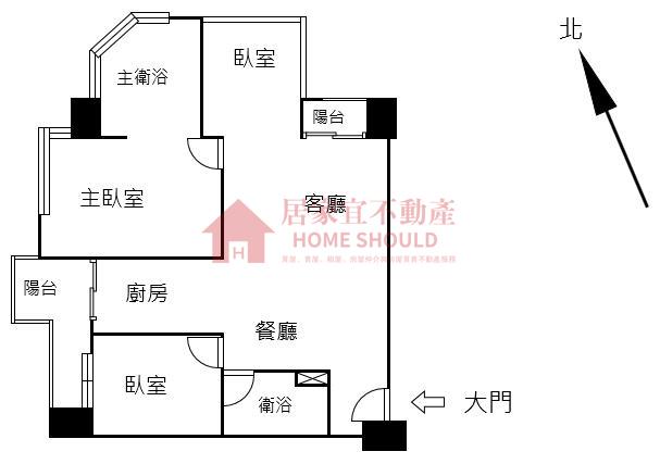 【租】台北灣No.6江南大宅「稀有邊間高樓海景三房」