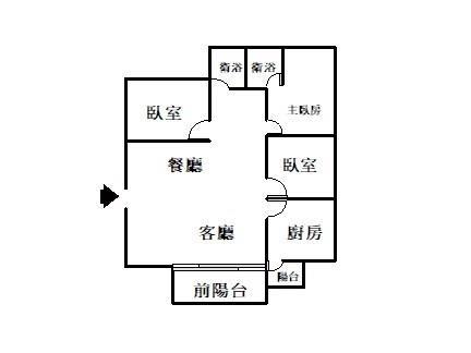 (專任)超便宜北門國小3房明亮美寓