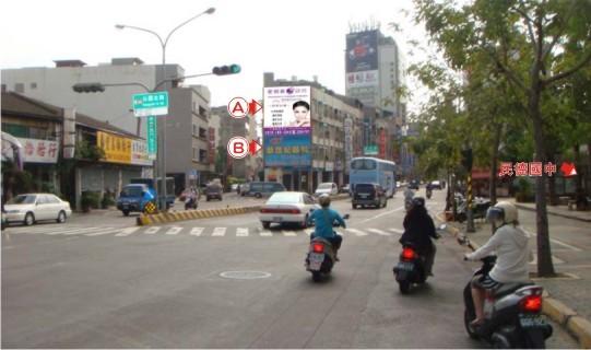 N-0587A壁面廣告牆-台南市西門路三段290號A面-民德國中對面往火車站、北門路商圈廣告看板