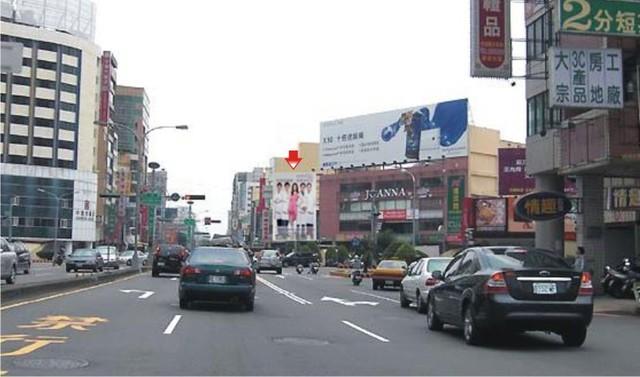 H-0235鐵架廣告塔-台中市中港路一段1號-往火車站、SOGO百貨、長榮桂冠酒店、金典酒店廣告看板