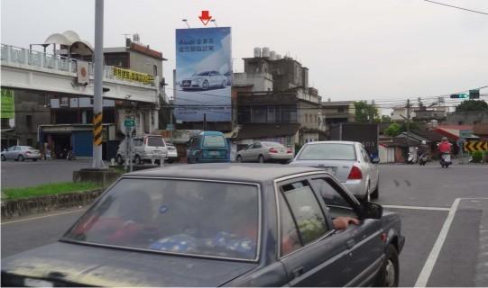 J-0040AB鐵架廣告塔-彰化縣花壇鄉金墩街1巷6號-中彰快速道路廣告版面