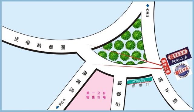 N-0655壁面廣告塔-台南市新營區延平路7號3~5樓-新營區圓環商圈廣告版面