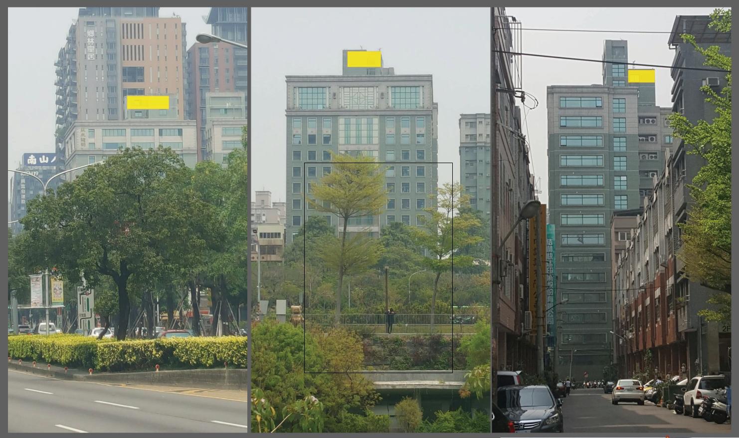台中市秋紅谷公園前廣告看板