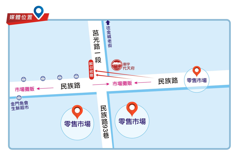 Z-0003-金門零售市場中民族路與莒光路交叉口、金城老街
