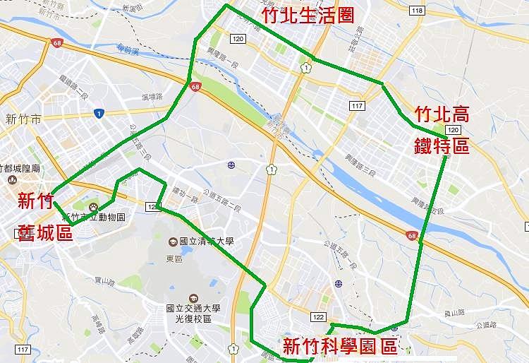 大新竹輕軌路網