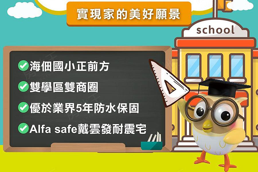 圖片:台南海佃國中小走路上下學,生活圈便利學區優