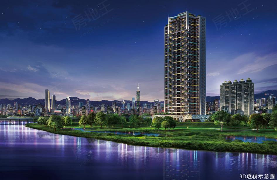 圖片:新北河濱帝王,水岸最高無敵視野