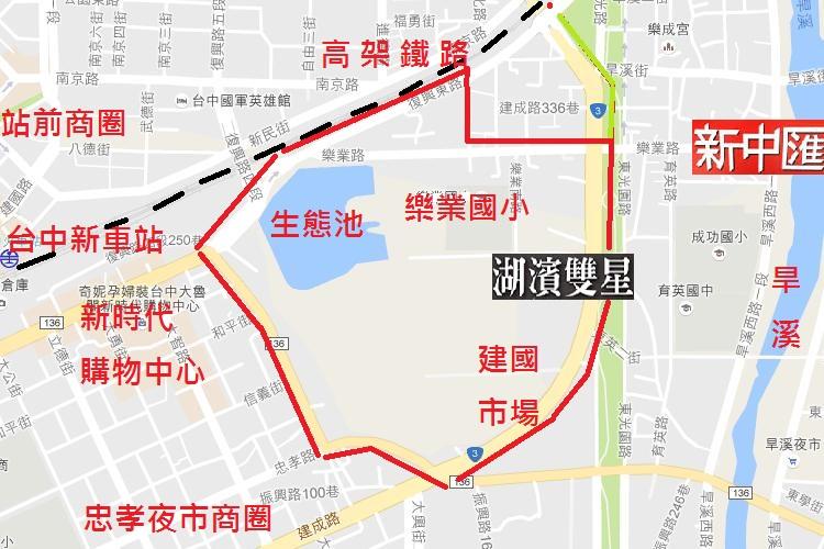 台中湖濱特區位置